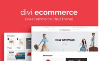 DIVI Ecommerce Child Theme $59.00 Single Website Use